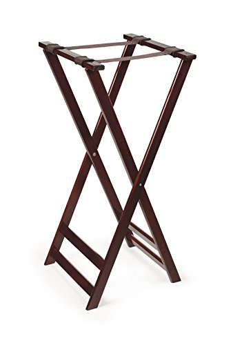"G.E.T. Enterprises Mahogany 38"" high, Hardwood Tray Stand Hardwood Tray Stands Collection TSW-105 (Pack of 1)"