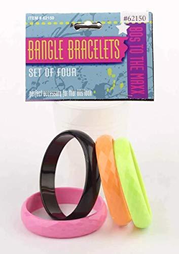 Forum Novelties Inc – 80's Bangle Bracelet Set (4 piece) – The Super Cheap