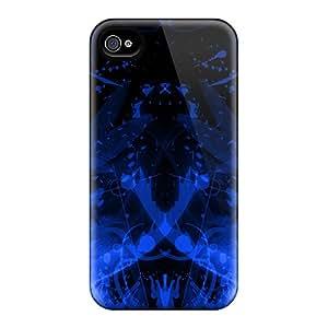 New Tpu Hard Case Premium Iphone 4/4s Skin Case Cover(psychoblue)