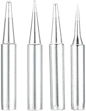 argento 4 pezzi 900 m saldatore punta per saldatore sostituzione stazione di rilavorazione strumento rame testa senza saldatura punte testa riparazione elettrica fai da te