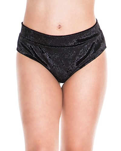 iHeartRaves Black Crushed Velvet Ribbon Tie Booty Shorts (Large) (Ribbon Tie Shorts)