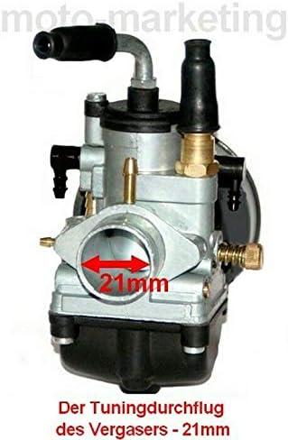 90ccm Sport Racing Zylinder KIT VERGASER 21mm Set f/ür Yamaha TZR50 TZR 50 AM6 Zylinderkit Unbranded