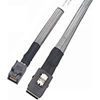 10Gtek Internal Mini SAS HD SFF-8643 to Mini SAS SFF-8087 Cable, 0.5-Meter(1.6ft), Foldable, Flexible
