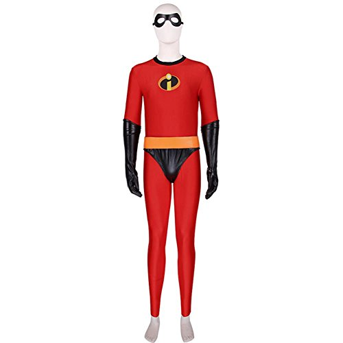 Xcoser Incredibles 2 Jumpsuit Cool Halloween Cosplay Costume Accessory Prop L]()