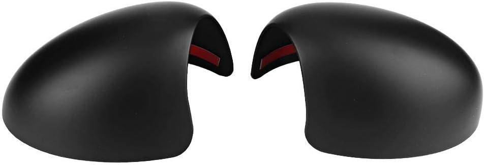 R/ückspiegelabdeckung ein Paar Auto R/ückspiegelkappe Abdeckung Fit f/ür Mini Cooper R52 R50 R53 489120050 Schwarz