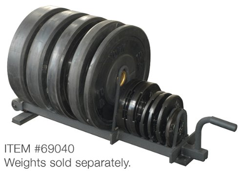 York Barbell 69040 Half Set Horizontal Plate Rack, Black by York Barbell