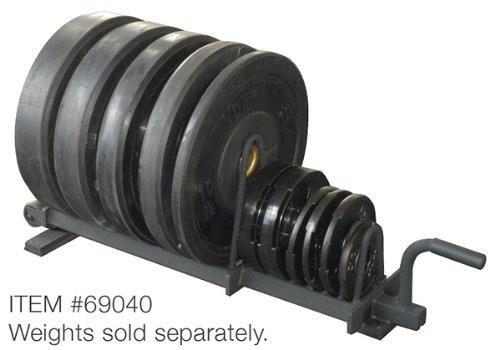 York Barbell 69040 Half Set Horizontal Plate Rack, Black