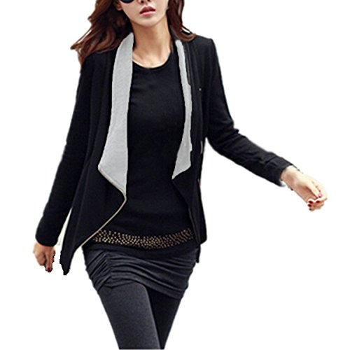 Minetom-Mujer-Casual-Manga-Larga-Cardigan-Top-Coat-Blazer-Jacket-Outwear-Blusa-Traje