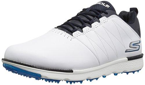 Skechers Mens Outlet (Skechers Performance Men's Go Gole Elite 3 Wide Golf Shoe,White/Navy,11.5 W US)