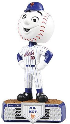 FOCO MLB New York Mets Unisex Stadium Lights BOBBLESTADIUM Lights Bobble, Team Color, OS ()