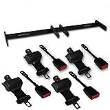 Universal Golf Cart Retractable Seat belt Kit for 4 seat cart