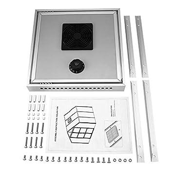 Ventilador termostático solar de invernadero ecológico HX-F15 para extracción de aire con ventilación automática y enfriamiento: Amazon.es: Coche y moto