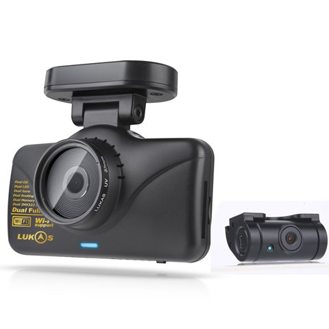 Amazon.com: Lukas Lk-7950 WD FHD & FHD Wi-Fi Smart 2ch Dash Cam ...