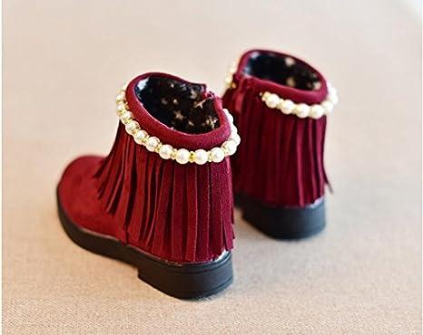 8361b084f8 HGTYU-Le ragazze il vino rosso di perline sottile cotone stivali ...