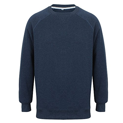 Front Row Adults Unisex French Terry Sweatshirt (S) (Navy MARL)