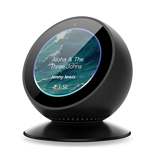 Benuo Echo Spot Adjustable Stand 360 Degree Rotation Aluminum Alloy Base Silicone Pad Built-in Strong Magnetic Attachment Echo Spot Accessories for Bedroom Kitchen Office (Stand 360 Degree Rotation)