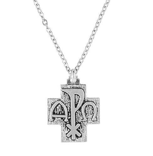 Catholic & Religious Alpha Omega Cross on 24