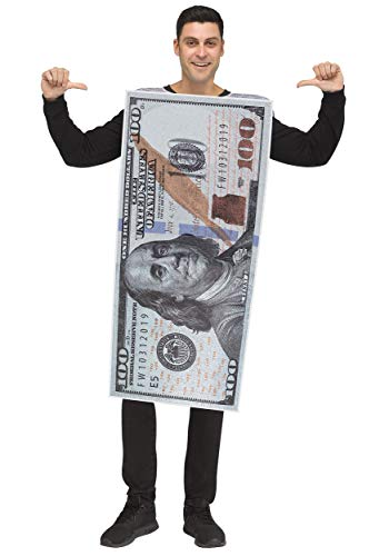 Money 100 Dollar Bill (Fun World Money, Money! 100 Dollar Bill Adult Costume-Standard)
