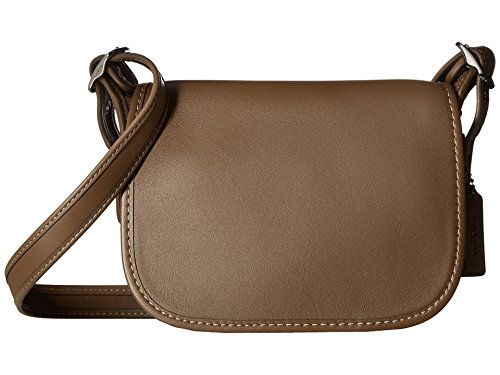 COACH Women's Glovetanned Leather Saddle Bag 18 Dk/Fatigue One Size by Coach