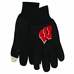 NCAA Wisconsin Badgers Technology Touch Gloves