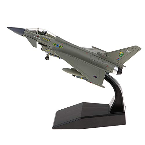 (Flameer 1/100 Diecast Fighter EF-2000 Eurofighter Typhoon Aviation Airplane Craft Home Decors)