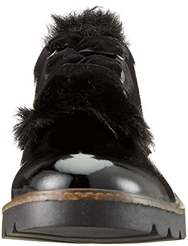 Oxford De 2 2 23704 Cordones 21 Mujer Para Zapatos 001 Tozzi black Negro 001 Marco wfqFU0Txzc