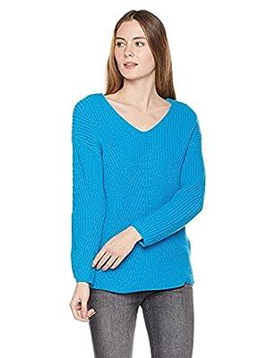 True Angel Women's V-Neck Long Sleeve Pullover