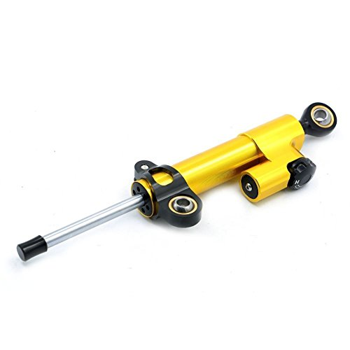 Alpha Rider Motorcycle Adjustable Steering Damper Stabilizer Reserve Safety Control for BMW R1200RT 2010 R1200S 2008 R1200S 2006 R1200ST 2005-2007 Gold and Black