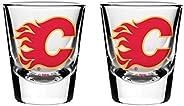 NHL Calgary Flames Shot Glass, 2-Pack