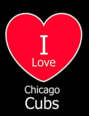 I Love Chicago Cubs: Black Notebook/Journal for Writing 100 Pages, Chicago Cubs Baseball Gift for Men, Women, Boys & Girls