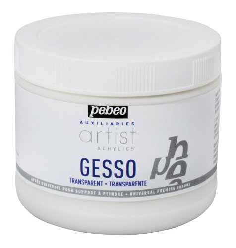Artist Acrylics Auxiliaries Transparent Gesso, 500-Milliliter by Pebeo