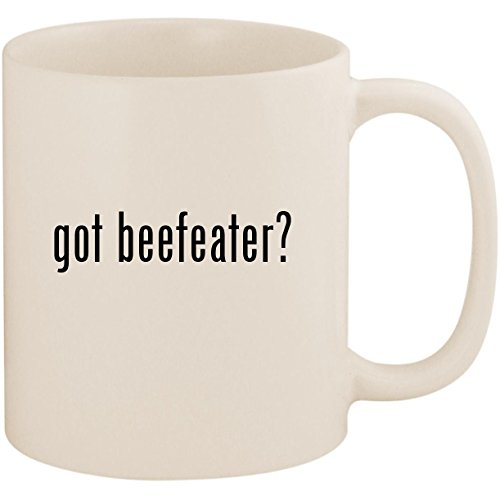 got beefeater? - 11oz Ceramic White Coffee Mug Cup, White