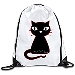 Hunson - Geek Fancy Cat Backpack Sack Bag Drawstring Sling Backpack For Men & Women Sackpack