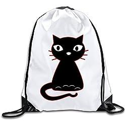 Hunson - Geek Fancy Cat Backpack Sack Bag Drawstring Sling Backpack For Men & Women Sackpack