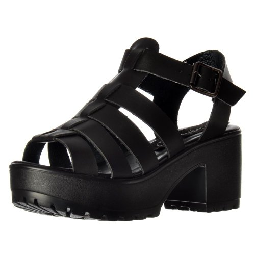 92e45e8e2cb Onlineshoe Women s Cut Out Gladiator Chunky Cleated Sole Block Heel Platform  Summer Sandals White - Buy Online in UAE.