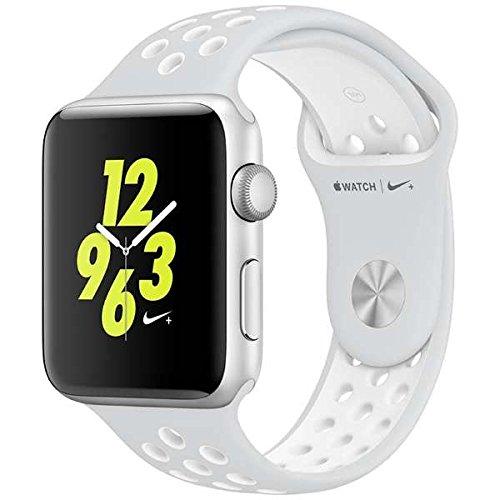 Apple Watch Nike+ 42mm シルバーアルミニウムケースとピュアプラチナ/ホワイトNikeスポーツバンド MQ1N2J/Aの商品画像