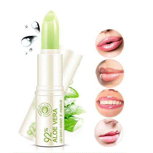 Natural Aloe Vera Lip Balm Refresh Moisturizing Colorless Lipstick Repair Wrinkles on Lip For Winter For Women & Men Lip Care