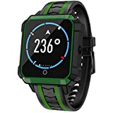 Linbing123 5.1 WiFi Smart Watch, Heart Rate Monitor Touchpad, Fitness Tracker, Smart Bracelet Activity Tracker Bluetooth Pedometer with Sleep Monitor Smart Watch,002