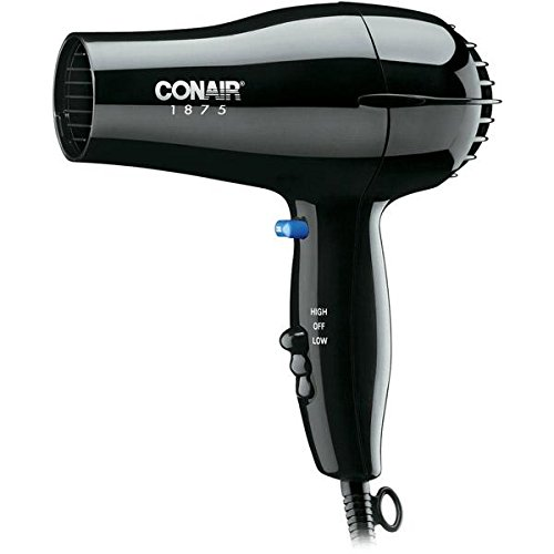 Conair 247BW Black Compact Hair Dryer - 1875W