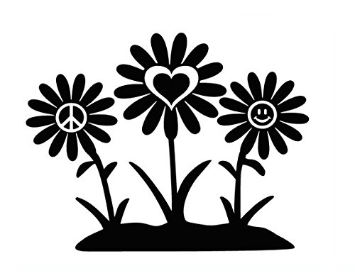 Peace Love Happiness Sunflower Decal Vinyl Sticker|Cars Truc