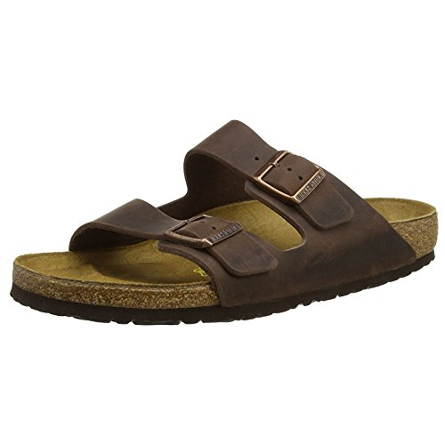 Birkenstock womens Arizona in Habana from Leather Sandals 37.0 EU W by Birkenstock