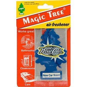brand new car scent smell aroma carded magic tree in car air freshener pack x 1. Black Bedroom Furniture Sets. Home Design Ideas