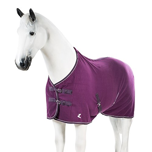 Horse Stable Blanket (Horze Fleece Blanket Purple 84)