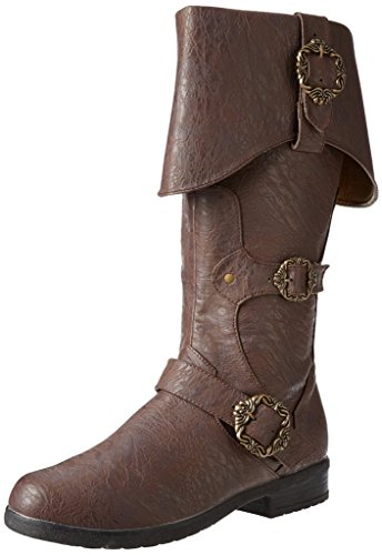 Caribbean Pirate Brown Costume Boots (Large 12-13)
