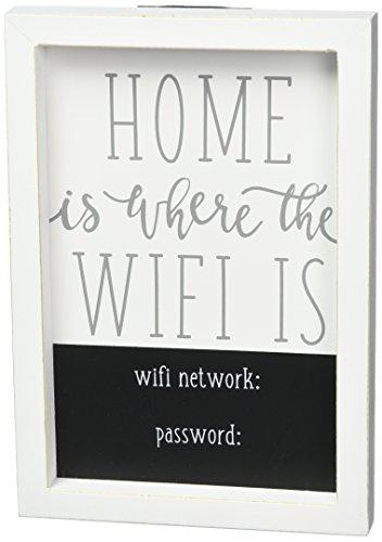 - Mud Pie WiFi Home Decor Plaque, One Size, White