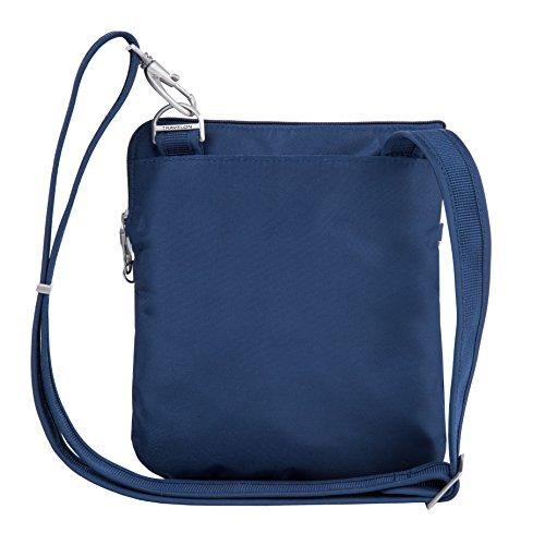 Travelon Anti-Theft Classic Slim Dbl Zip Crossbody Bag, Midnight by Travelon (Image #8)