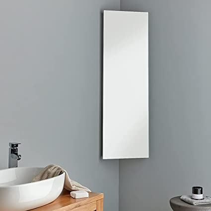 Extra Tall Corner Mirror Bathroom Cabinet 120cm Tall X 38cm Wide Great Storage Solution Reims Cabinet From Clickbasin Amazon Co Uk Home Kitchen