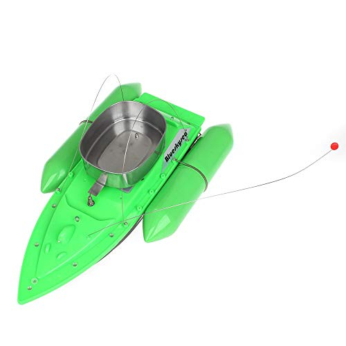 Blueskysea Smart RC Bait Boat Fish Finder Barco Remote Control Fishing Boats Fishing Tool Speedboat RC Ship Toys Extra Battery Green