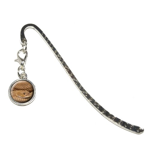 Graphics and More Snake Metal Bookmark Page Marker with Charm (CHARM_BOOK_0419)