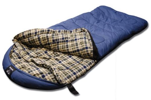 Grizzly -25 Degree Canvas Sleeping Bag (Blue), Outdoor Stuffs